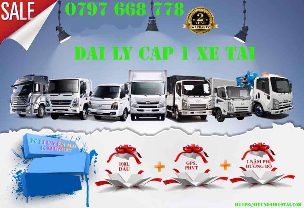 Đại lý cấp 1 xe tải Hyundai uy tín tại thành phố Hồ Chí Minh.